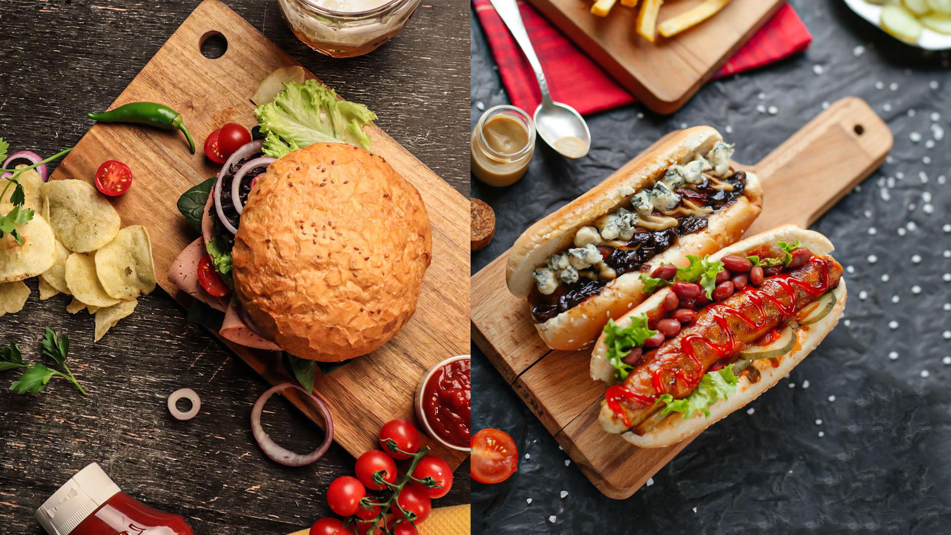 Hot dog et Hamburger